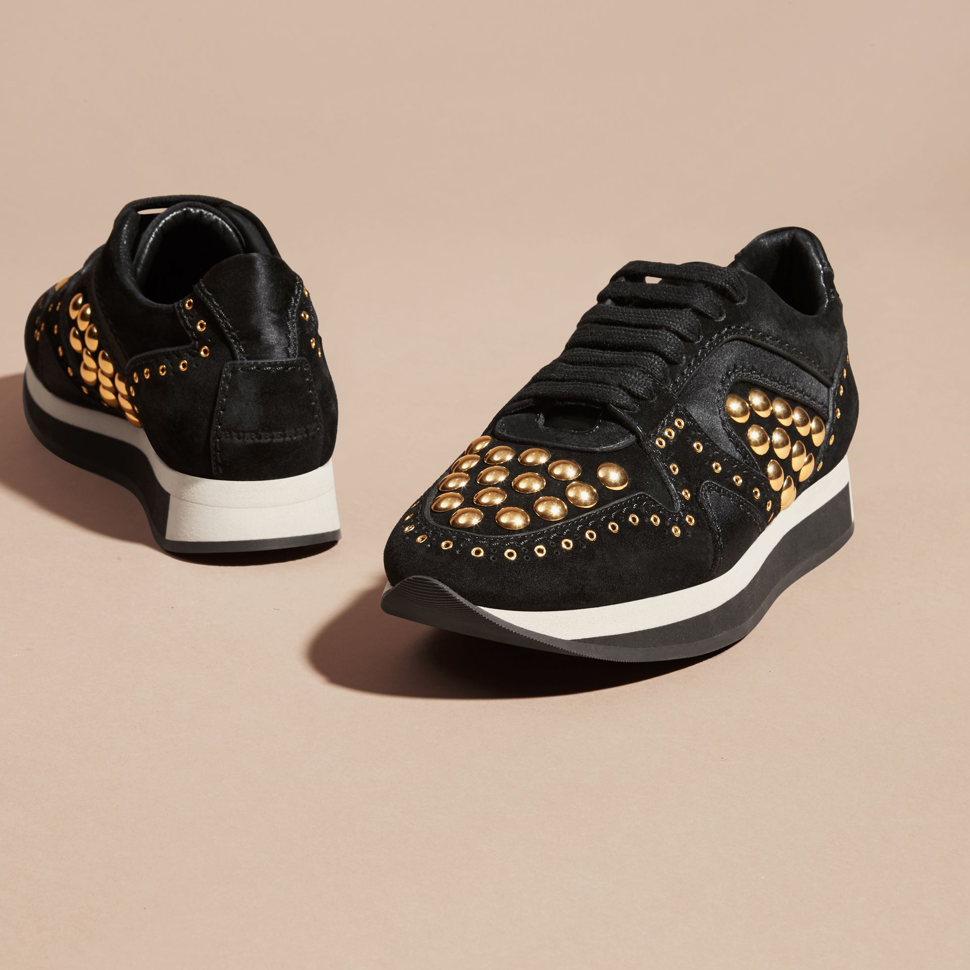 Black The Field Sneaker in Studded Suede Black - gallery image 3