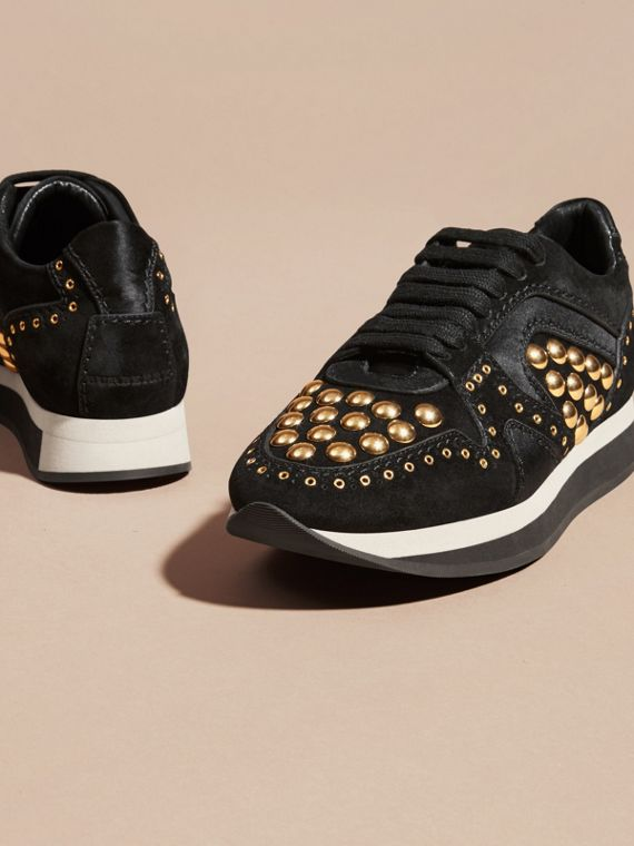 Black The Field Sneaker in Studded Suede Black - cell image 2