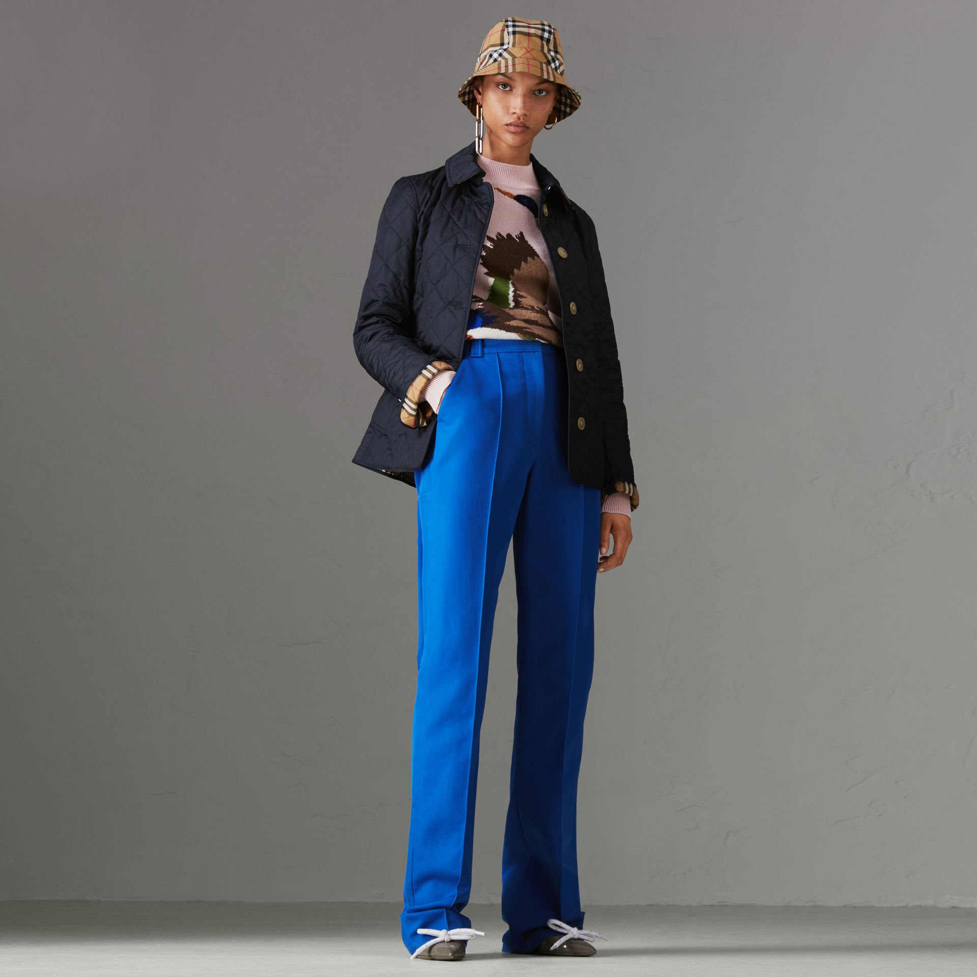 Chaqueta acolchada a rombos (Azul Marino) - Mujer | Burberry - imagen de la galería 0