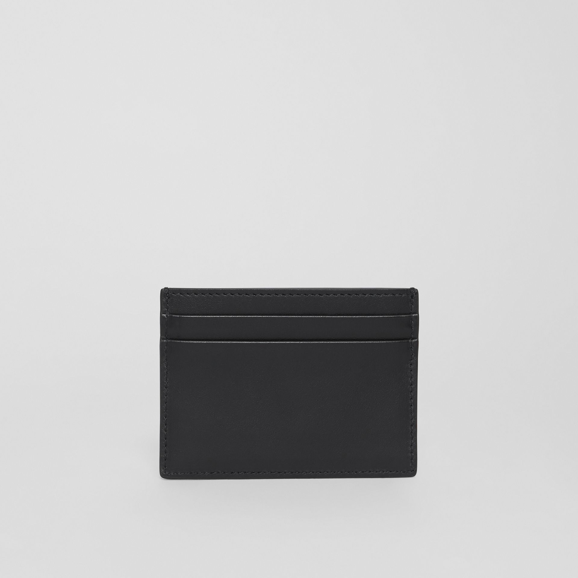 Horseferry Print Leather Card Case in Black - Men | Burberry - gallery image 4