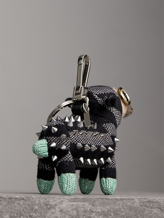 Wendy The Sheep Cashmere Charm in Black | Burberry United States - cell image 3