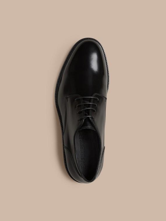 Schwarz Derby-Schuhe aus Leder Schwarz - cell image 2