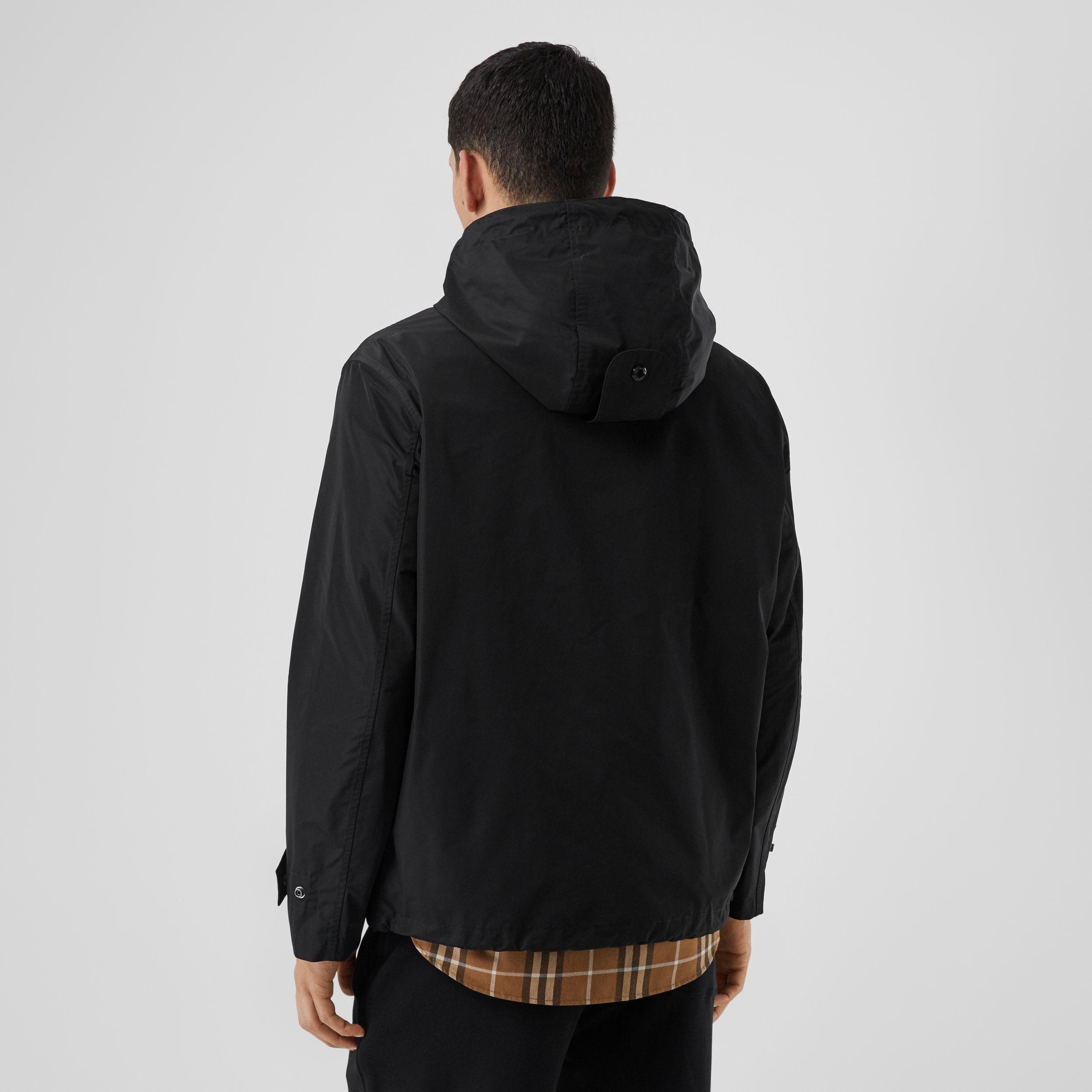 Logo Graphic Shape-memory Taffeta Hooded Jacket in Black - Men | Burberry Canada - 3