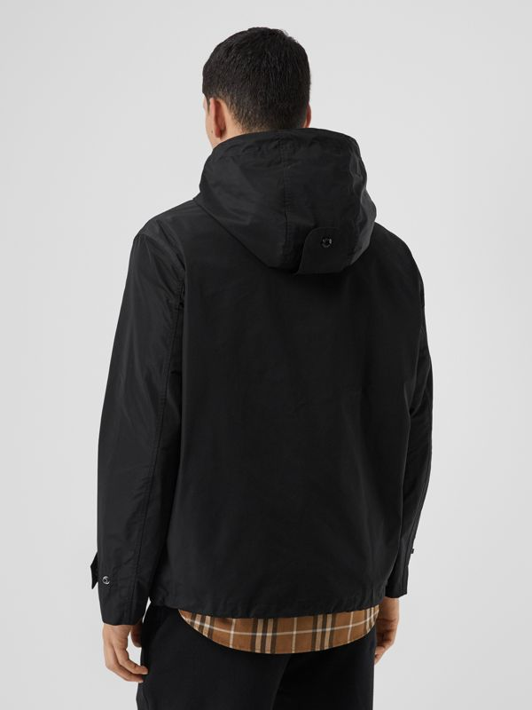 Logo Graphic Shape-memory Taffeta Hooded Jacket in Black - Men | Burberry - cell image 2