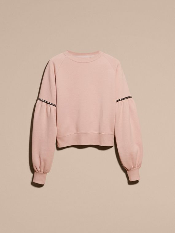 Puff-sleeved Cotton Blend Jersey Sweatshirt - cell image 3