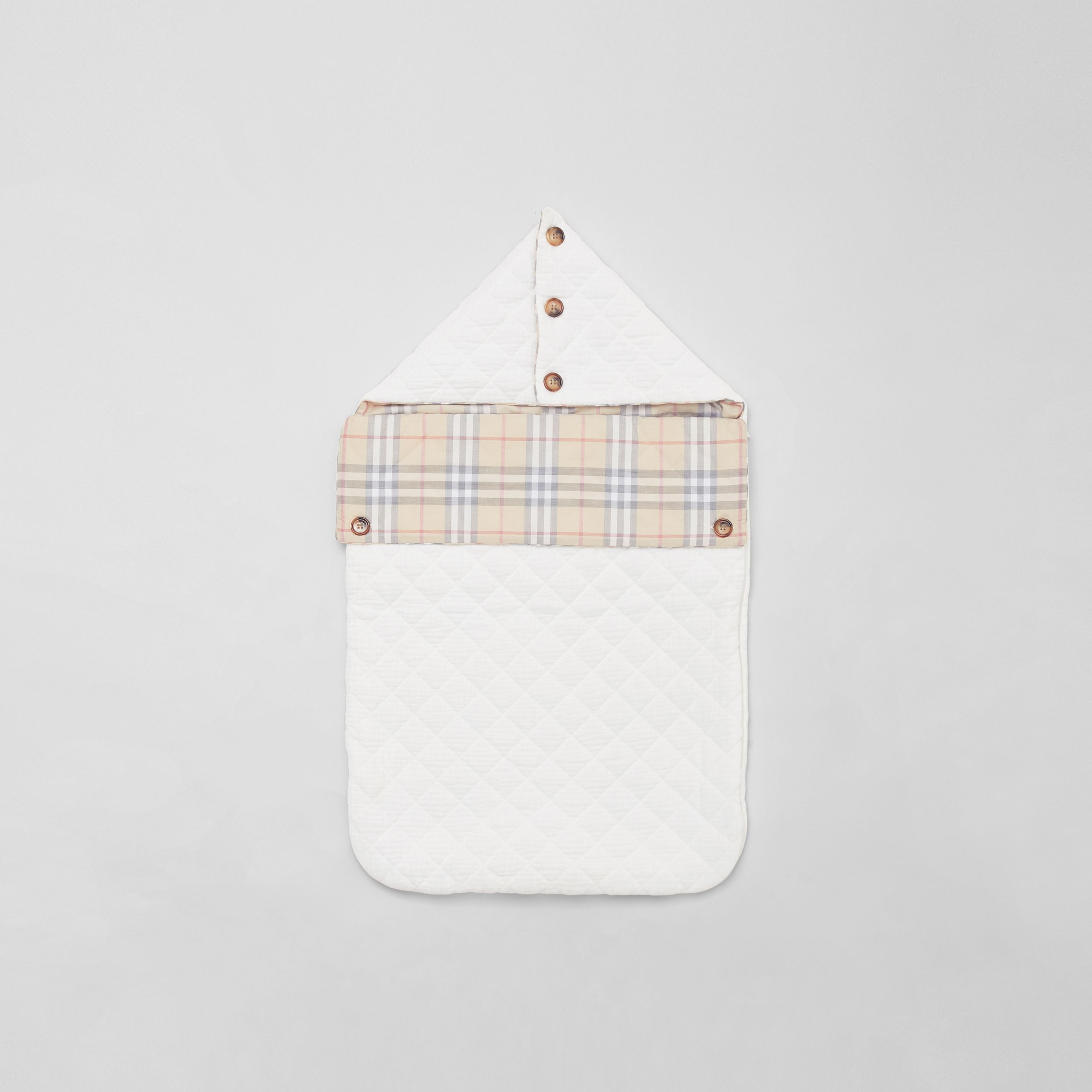 Vintage Check Cotton Baby Nest in White - Children | Burberry Hong Kong S.A.R. - 3
