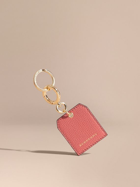 Grainy Leather Key Charm in Copper Pink | Burberry Singapore