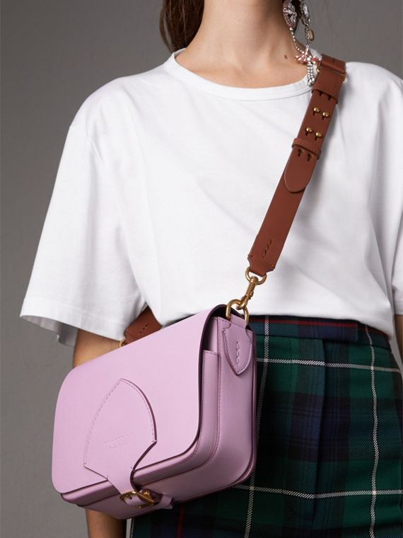 The Square Satchel in Leather in Pale Lavender - Women | Burberry Hong Kong - cell image 2