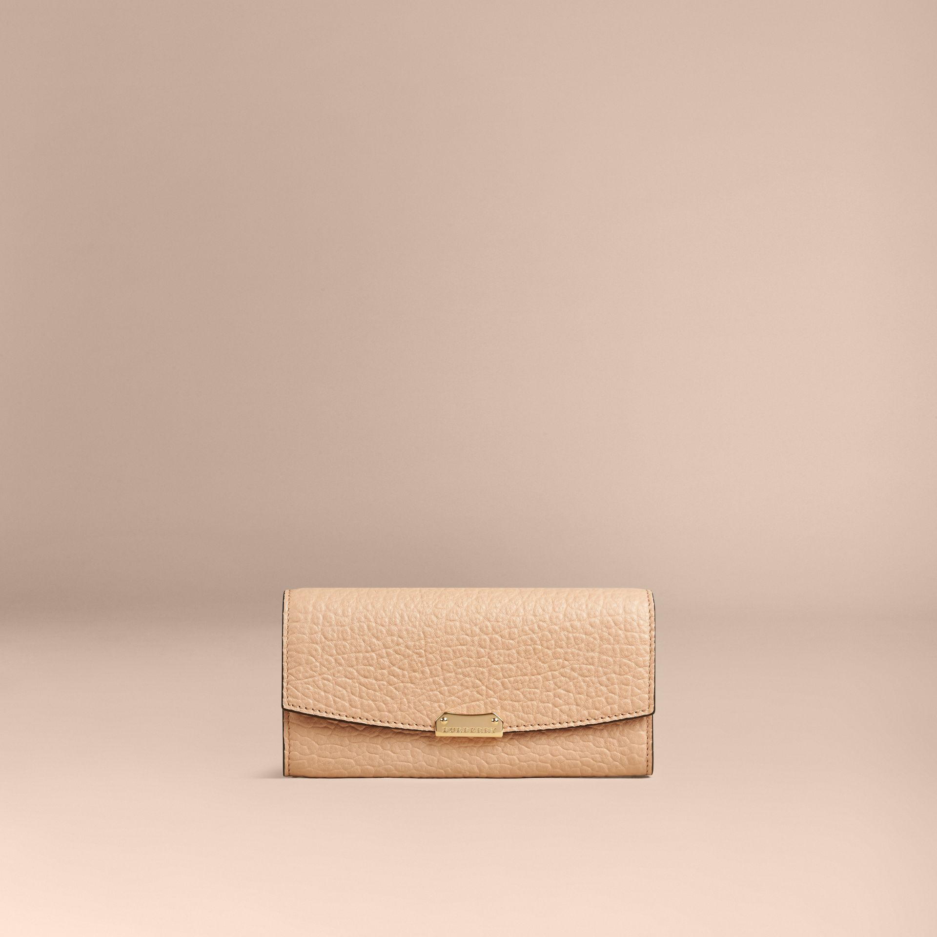Pale apricot Signature Grain Leather Continental Wallet Pale Apricot - gallery image 4