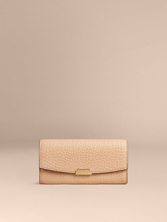 Pale apricot Signature Grain Leather Continental Wallet Pale Apricot - cell image 3