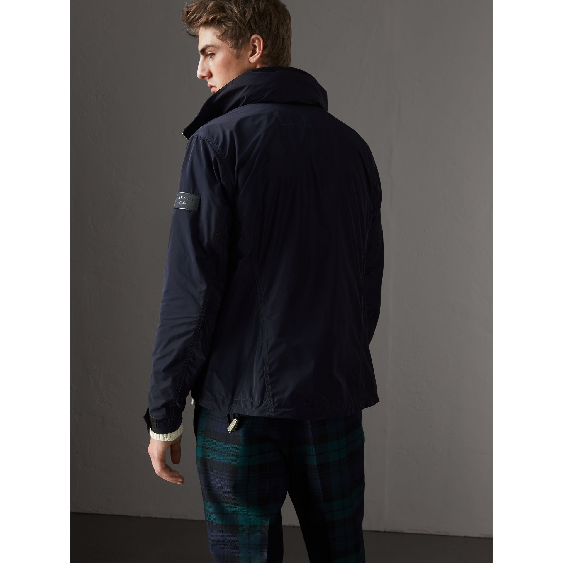 Packaway Hood Showerproof Jacket in Navy - Men | Burberry Australia - gallery image 2