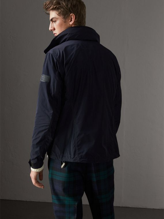 Packaway Hood Showerproof Jacket in Navy - Men | Burberry United States - cell image 2