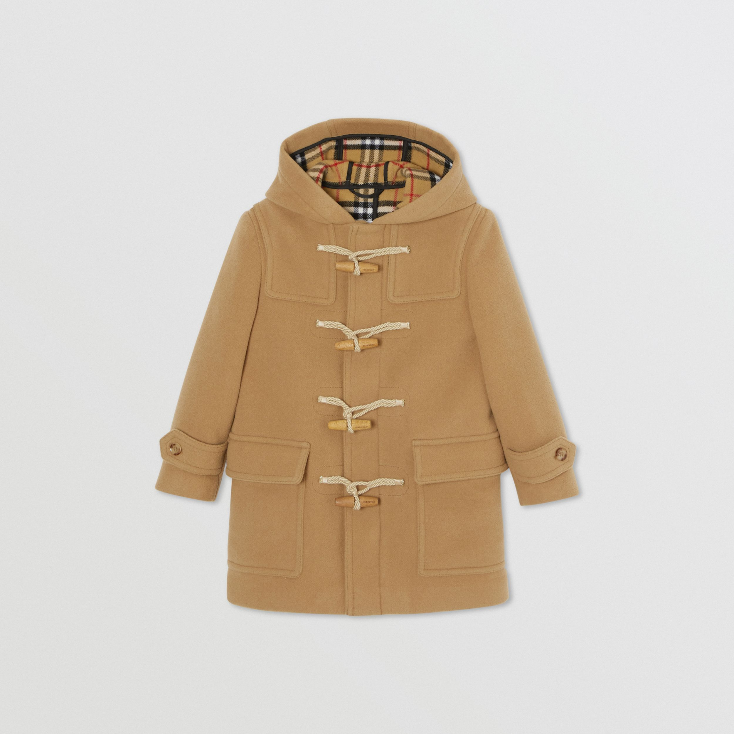 Double-faced Wool Duffle Coat in Antique Yellow | Burberry - 1