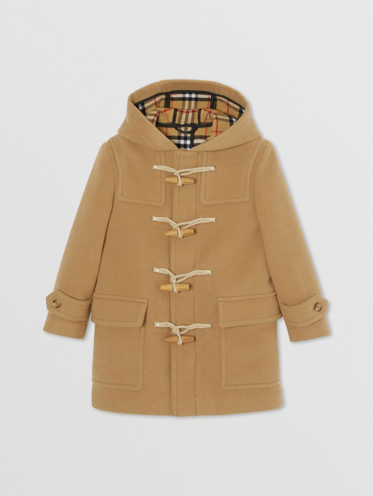 Double-faced Wool Duffle Coat (Antique Yellow)