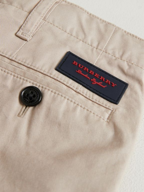 Cotton Chinos in Grey Stone | Burberry United Kingdom - cell image 1