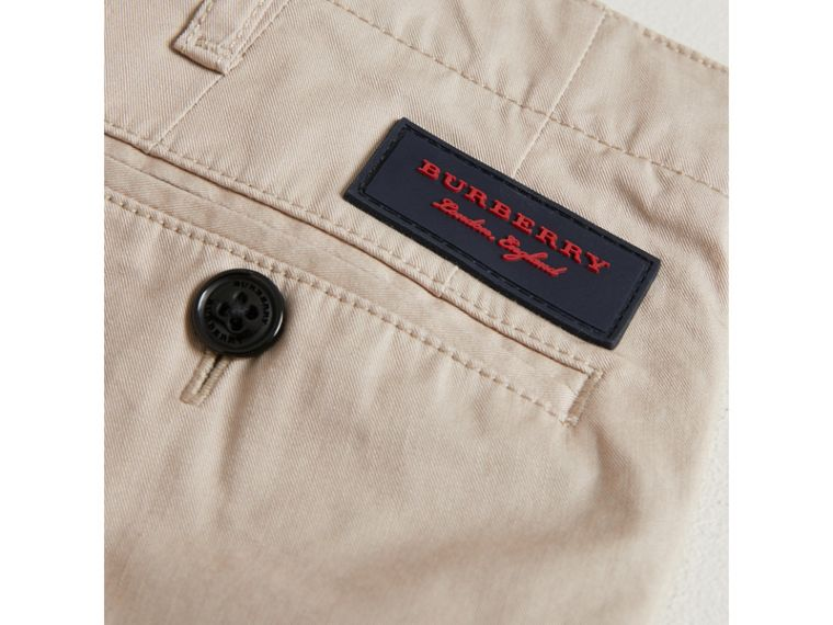 Cotton Chinos in Grey Stone - Boy | Burberry United States - cell image 1