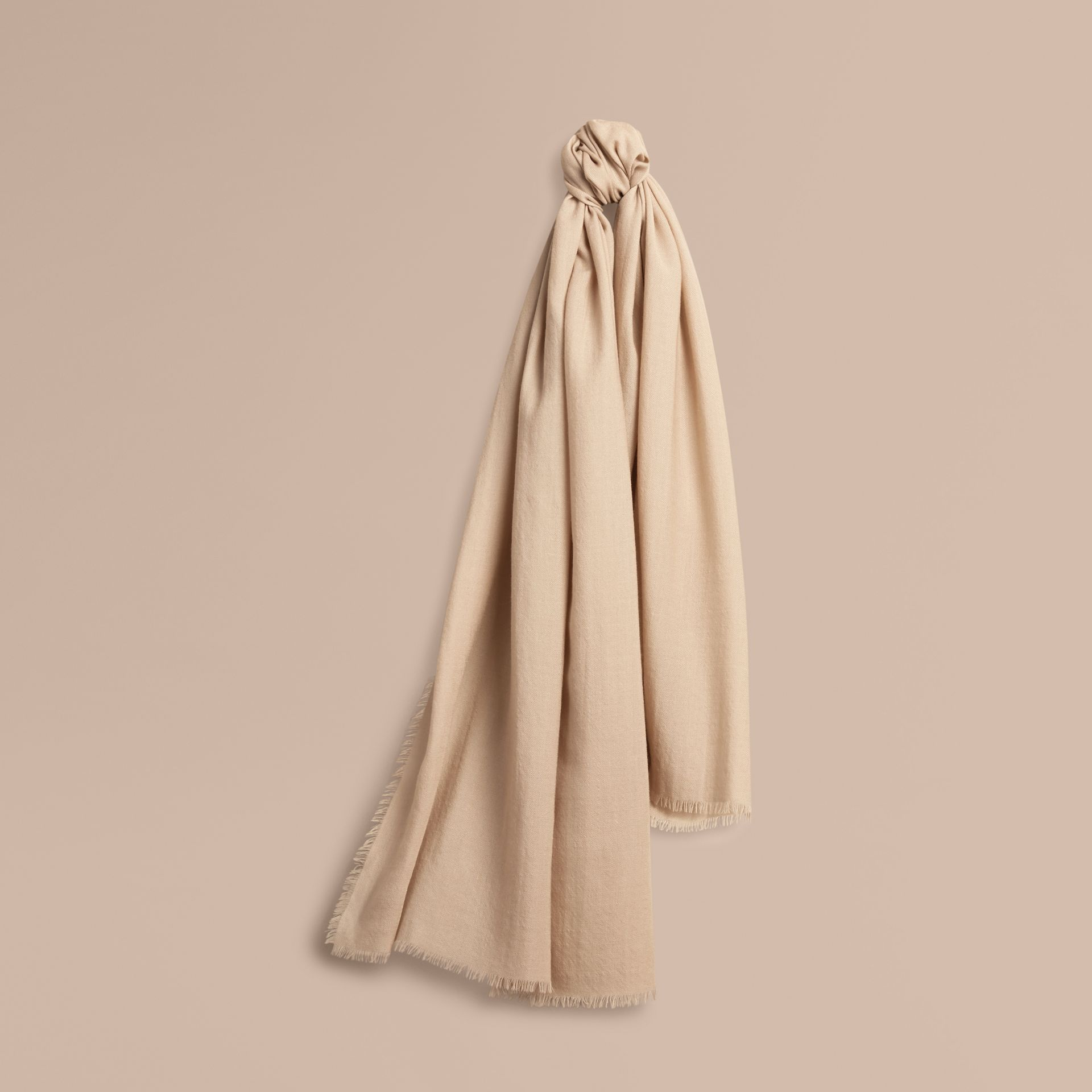 The Lightweight Cashmere Scarf in Stone | Burberry Singapore - gallery image 6