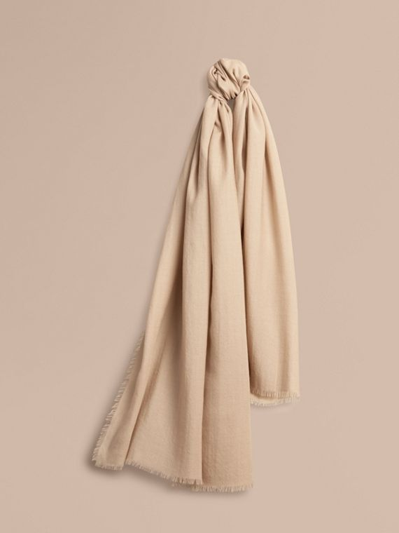 The Lightweight Cashmere Scarf in Stone