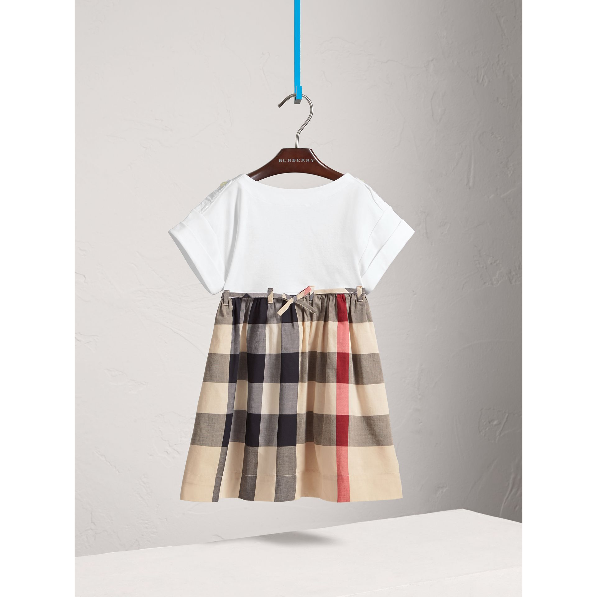 Check Cotton Dress in New Classic - Girl | Burberry Canada - gallery image 0