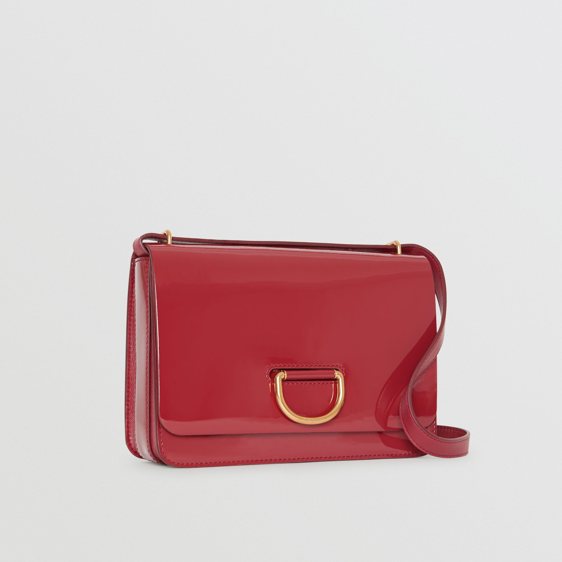 The Medium Patent Leather D-ring Bag in Crimson - Women | Burberry Australia - gallery image 6