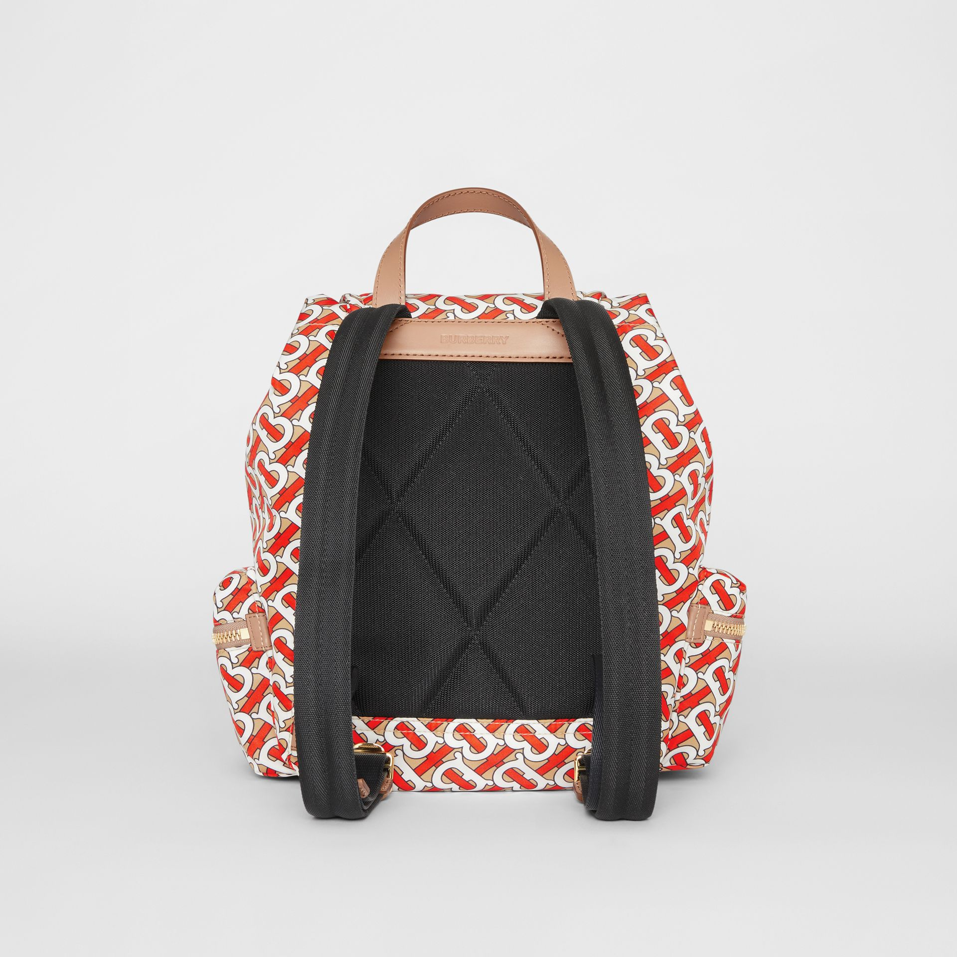 The Medium Rucksack in Monogram Print Nylon in Vermilion - Women | Burberry Canada - gallery image 7