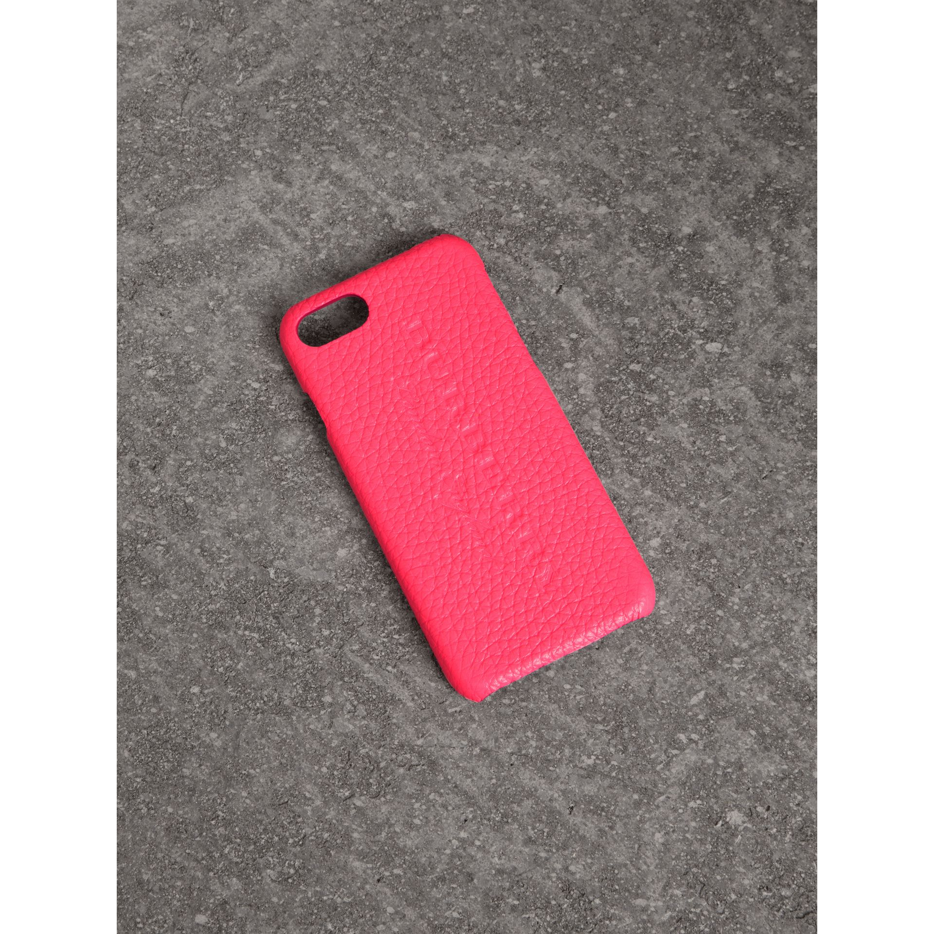 Neon Leather iPhone 7 Case in Bright Pink - Women | Burberry - gallery image 0