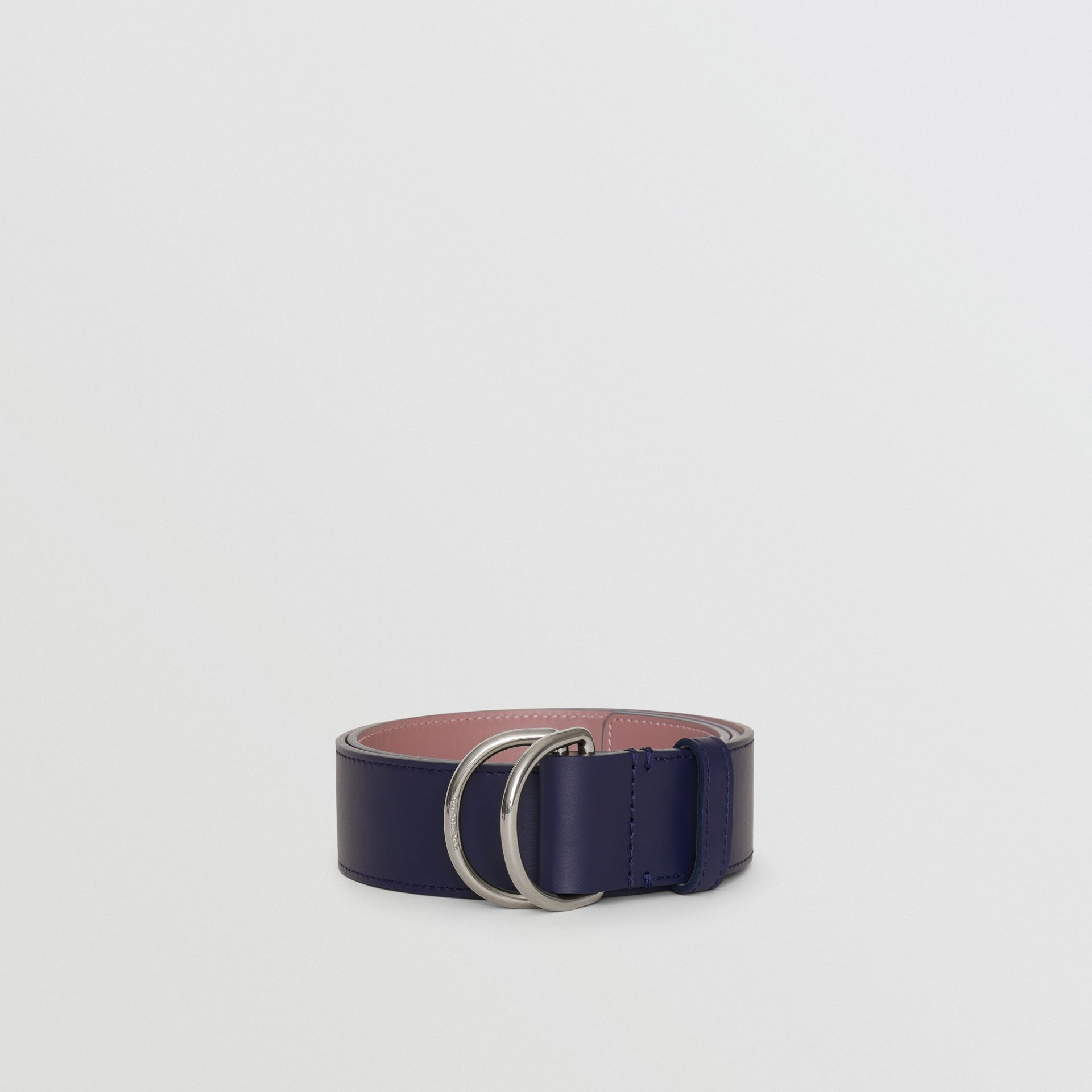 Leather Double D-ring Belt in Regency Blue/mauve - Women | Burberry - gallery image 2