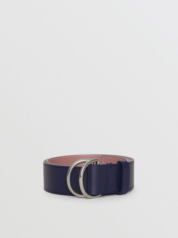 Leather Double D-ring Belt in Regency Blue/mauve - Women | Burberry - cell image 2