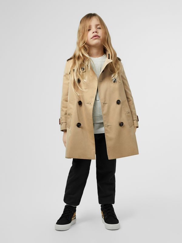 Cotton Gabardine Trench Coat in Honey | Burberry Australia - cell image 2