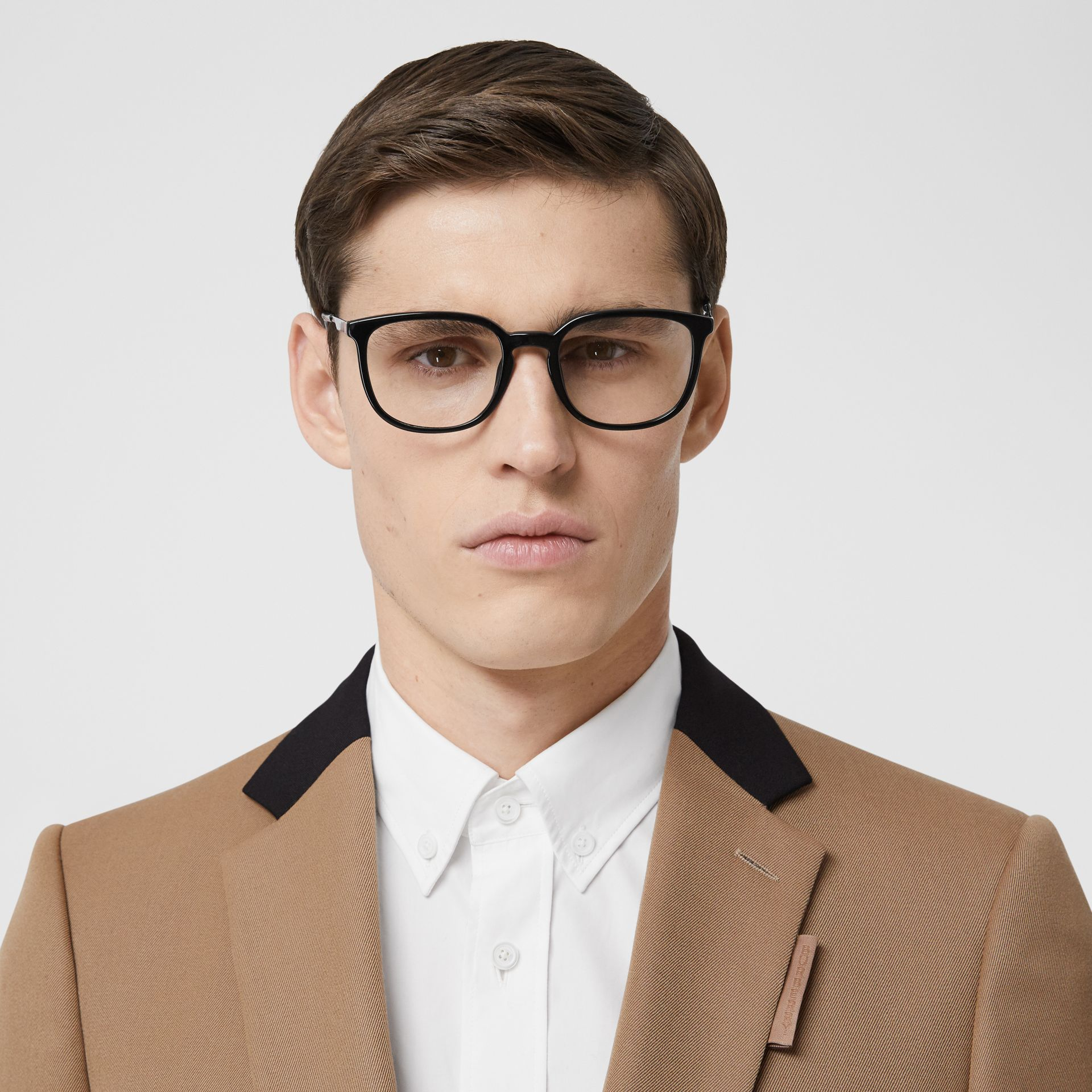 Classic Fit Two-tone Wool Tailored Jacket in Camel - Men | Burberry United Kingdom - gallery image 1