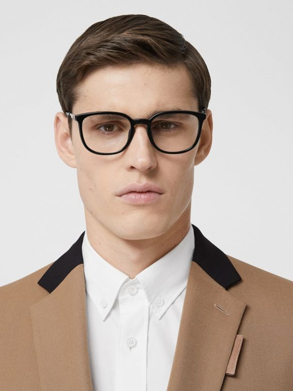 Classic Fit Two-tone Wool Tailored Jacket in Camel - Men | Burberry United Kingdom - cell image 1