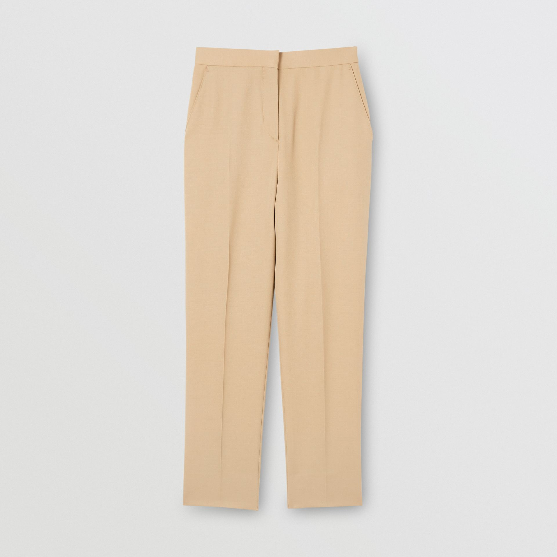 Wool Tailored Trousers in Honey - Women | Burberry - gallery image 3