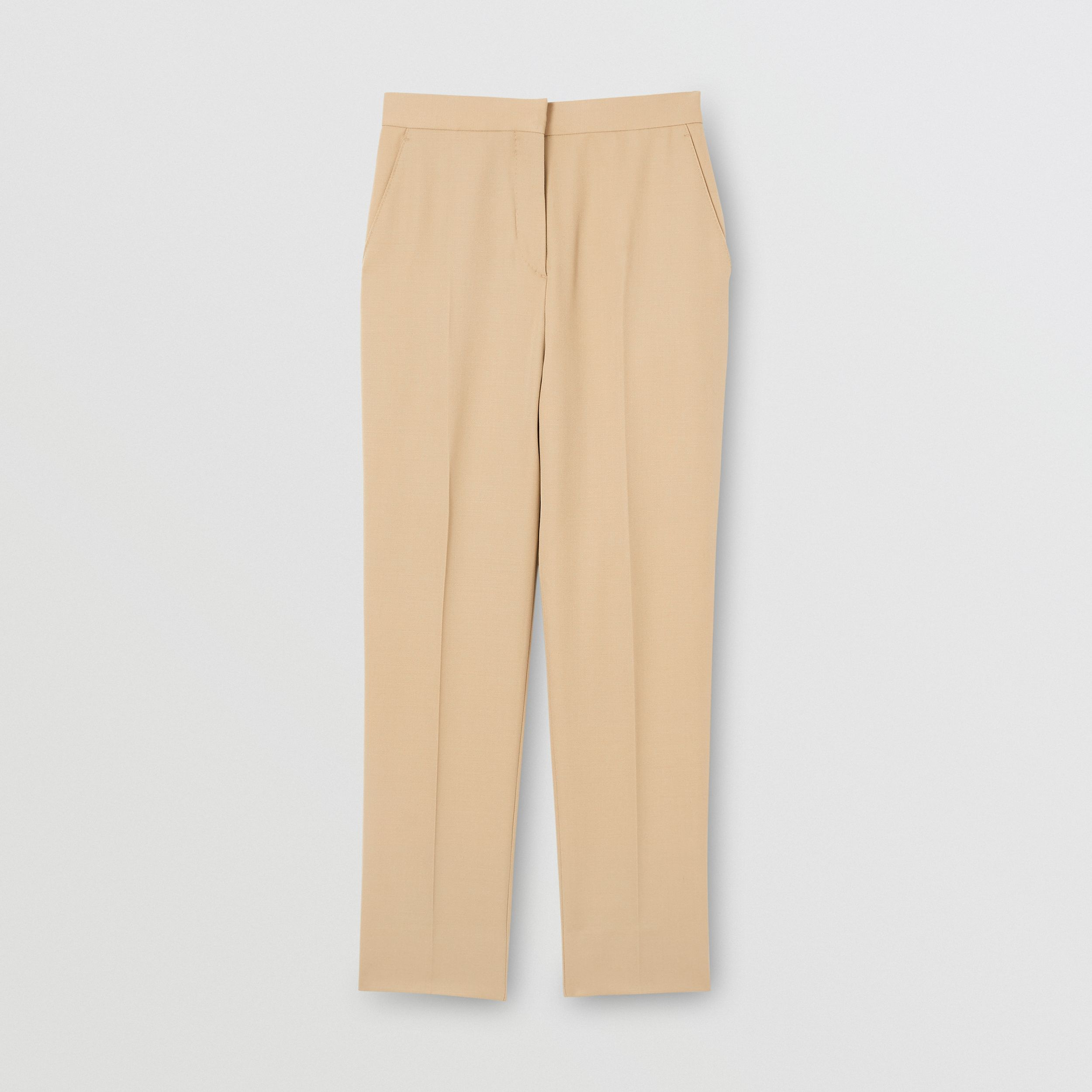 Wool Tailored Trousers in Honey - Women | Burberry - 4