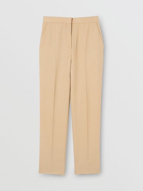 Wool Tailored Trousers in Honey