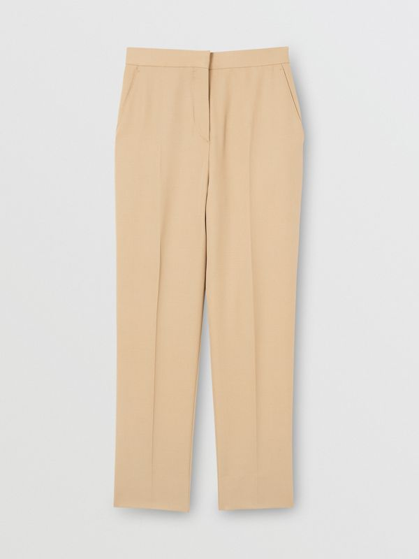 Wool Tailored Trousers in Honey - Women | Burberry United Kingdom - cell image 3