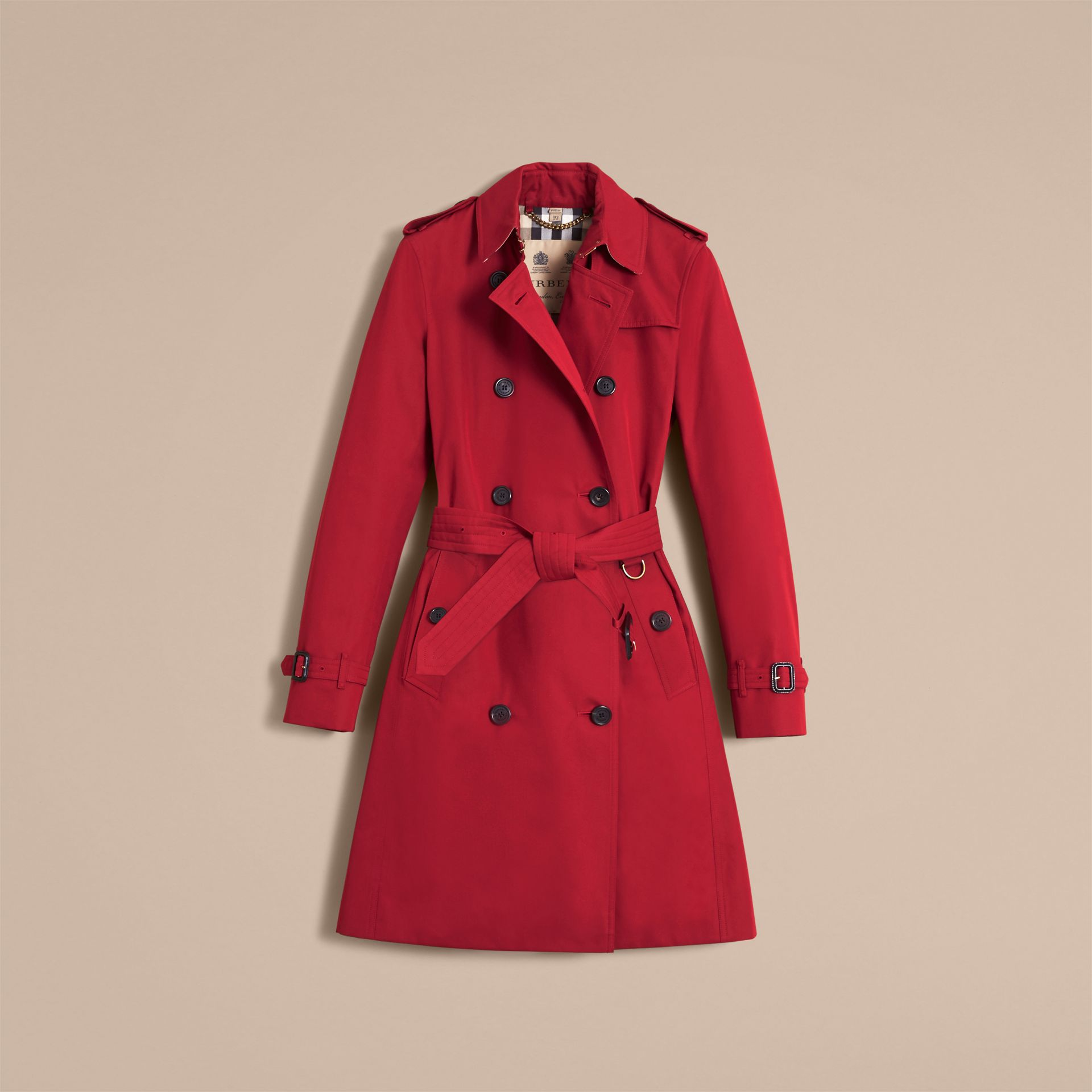 The Kensington – Long Heritage Trench Coat Parade Red - gallery image 4