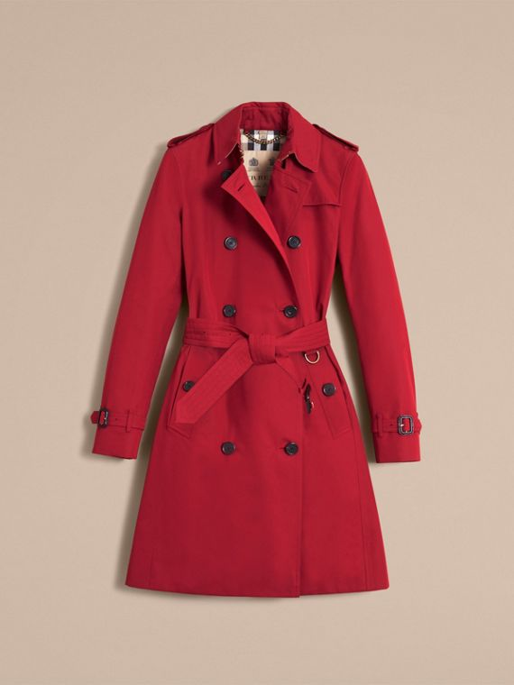 The Kensington – Langer Heritage-Trenchcoat Paraderot - cell image 3