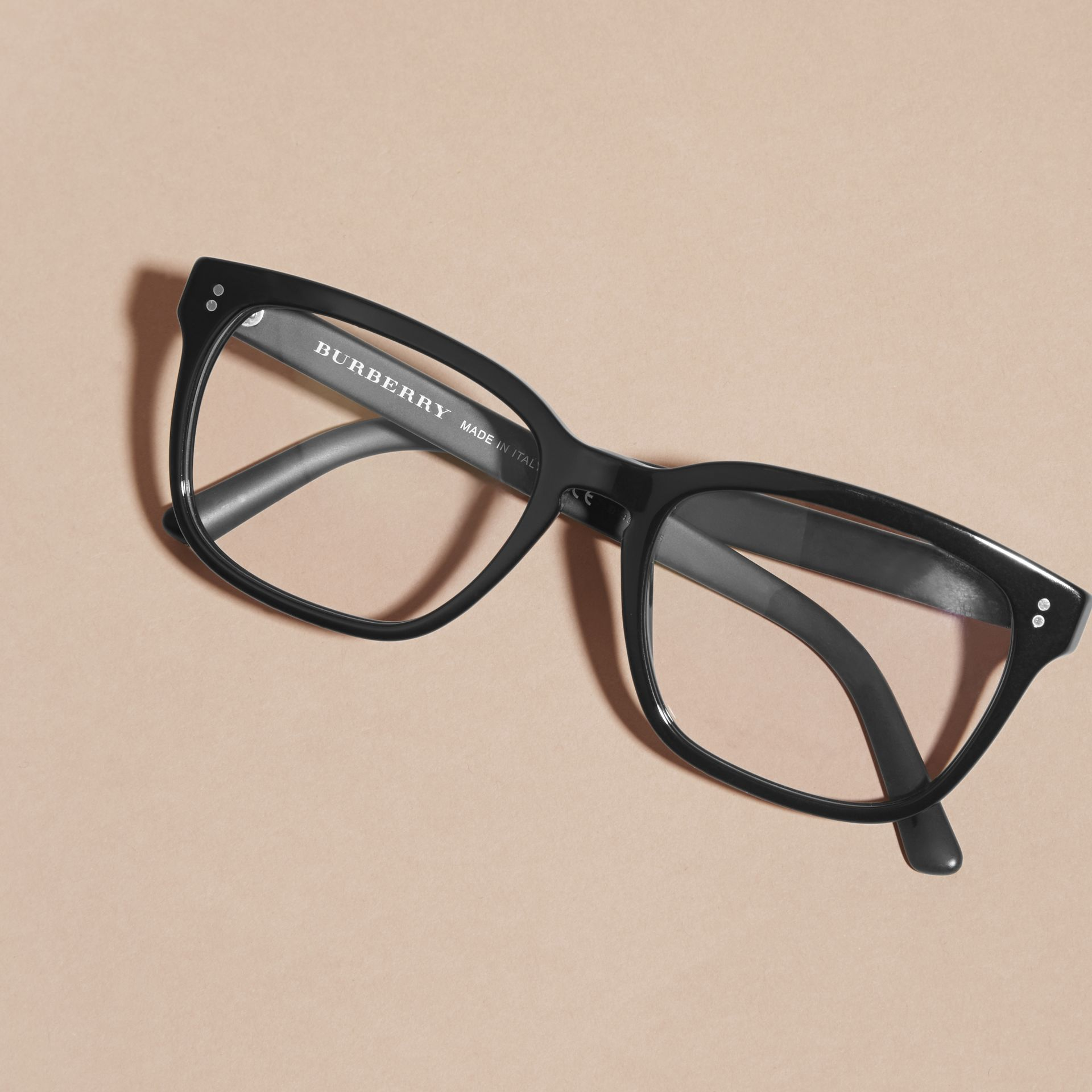Black Square Optical Frames Black - gallery image 4