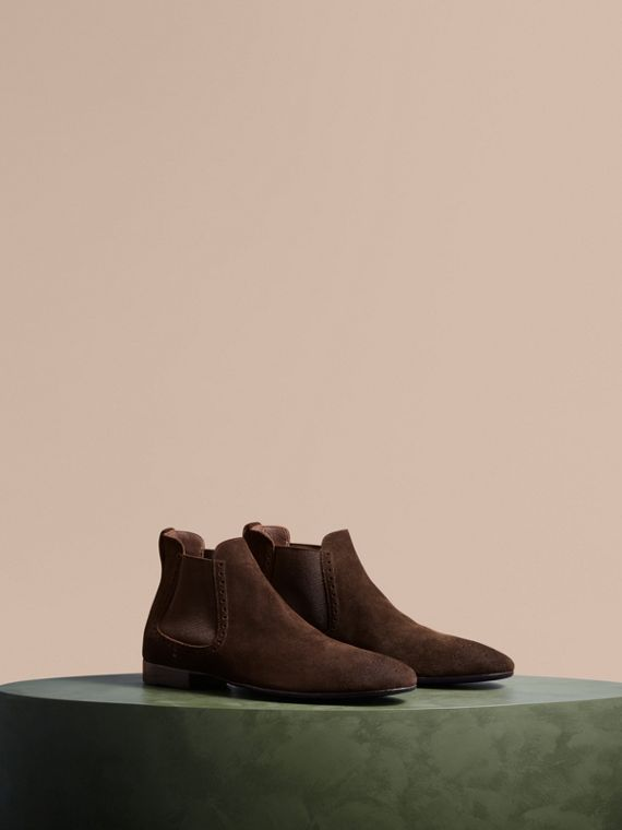 Washed-suede Chelsea Boots with Leather Soles