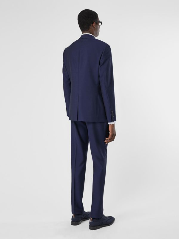 Slim Fit Wool Mohair Suit in Bright Navy - Men | Burberry United Kingdom - cell image 2