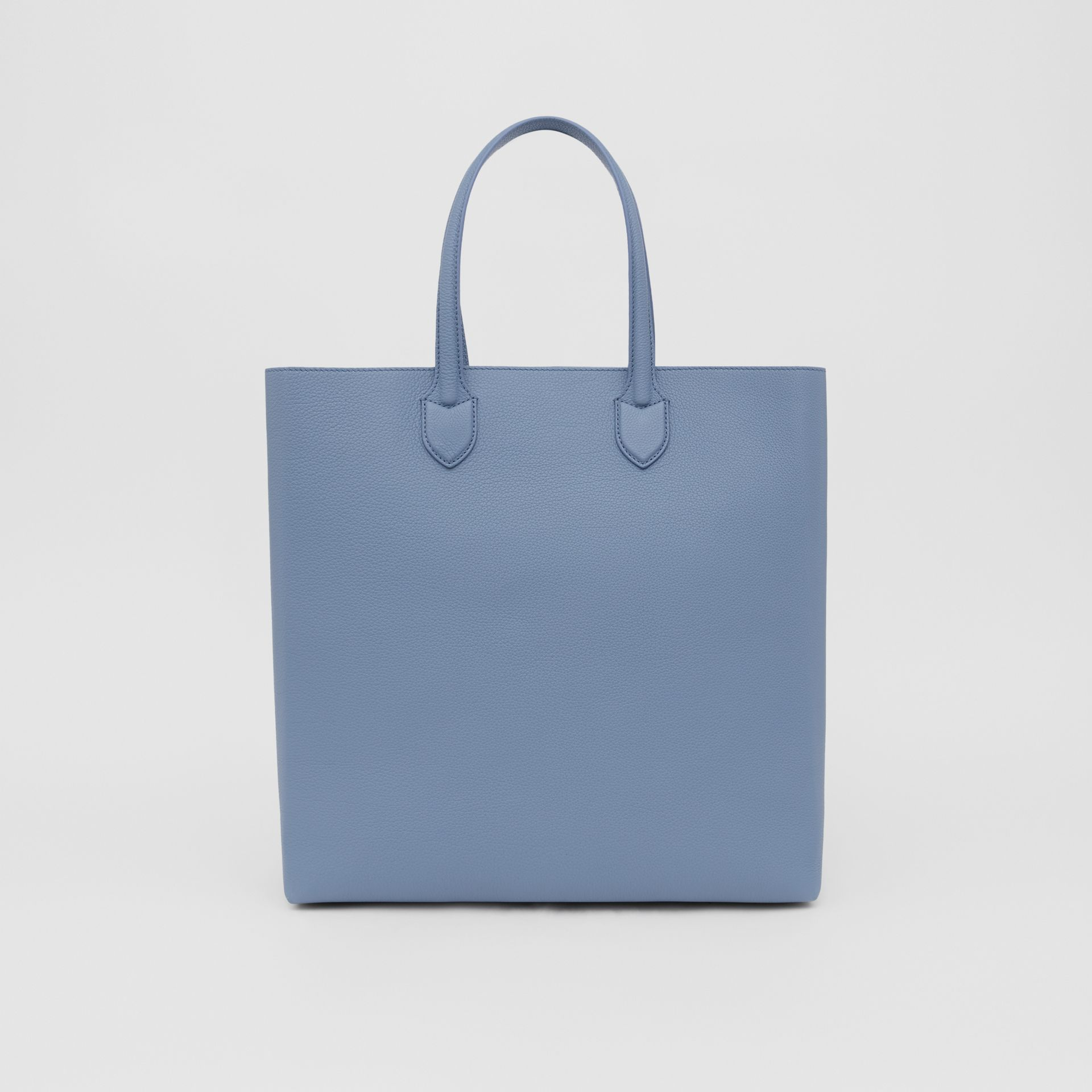 Large Logo Graphic Grainy Leather Tote in Baby Blue - Men | Burberry - gallery image 7