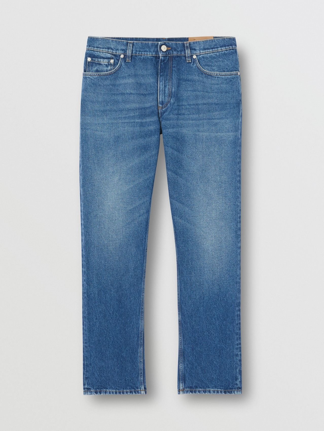 Straight Fit Indigo Jeans in Blue