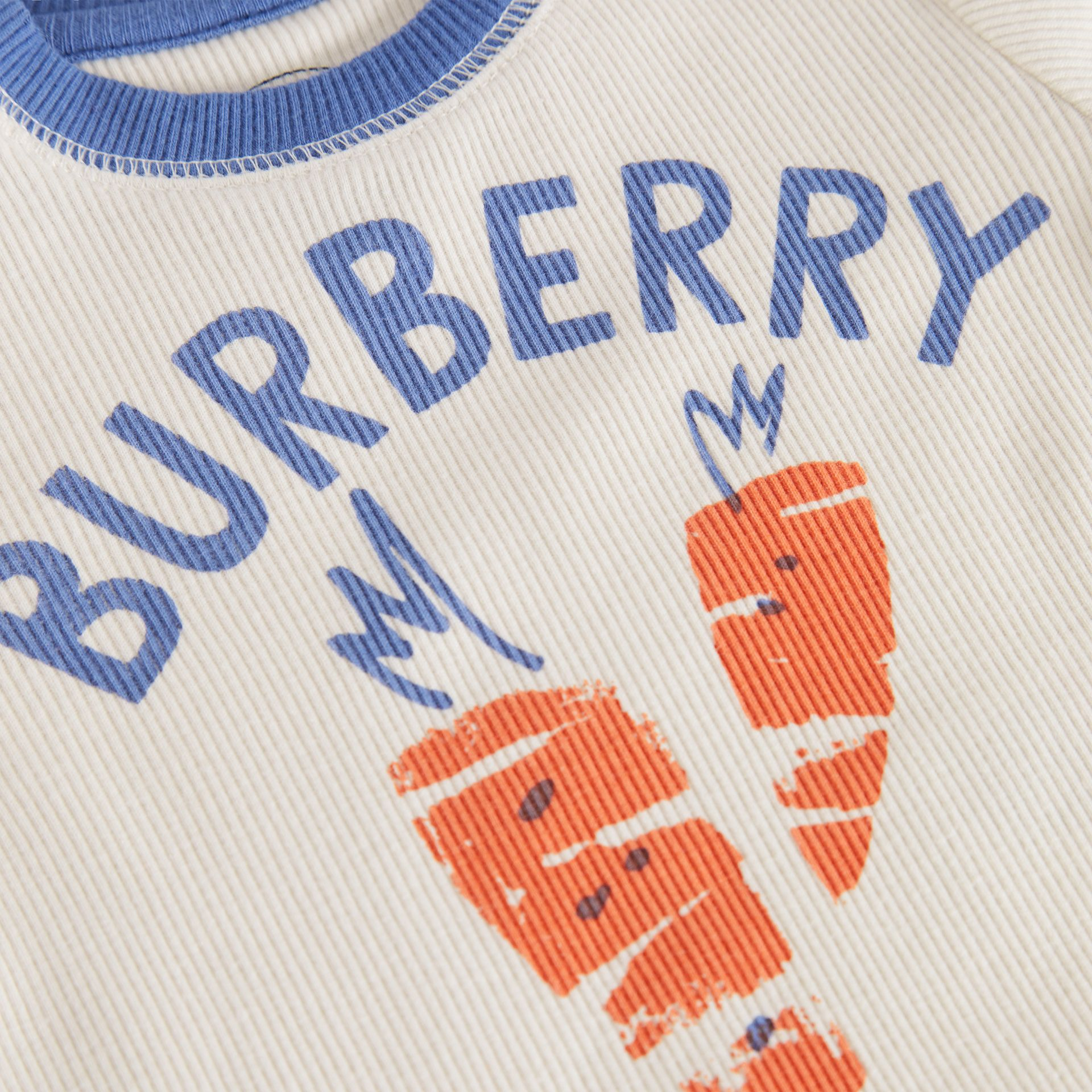 Carrot and Tree Print Three-piece Baby Gift Set in Stone - Children | Burberry United Kingdom - gallery image 1
