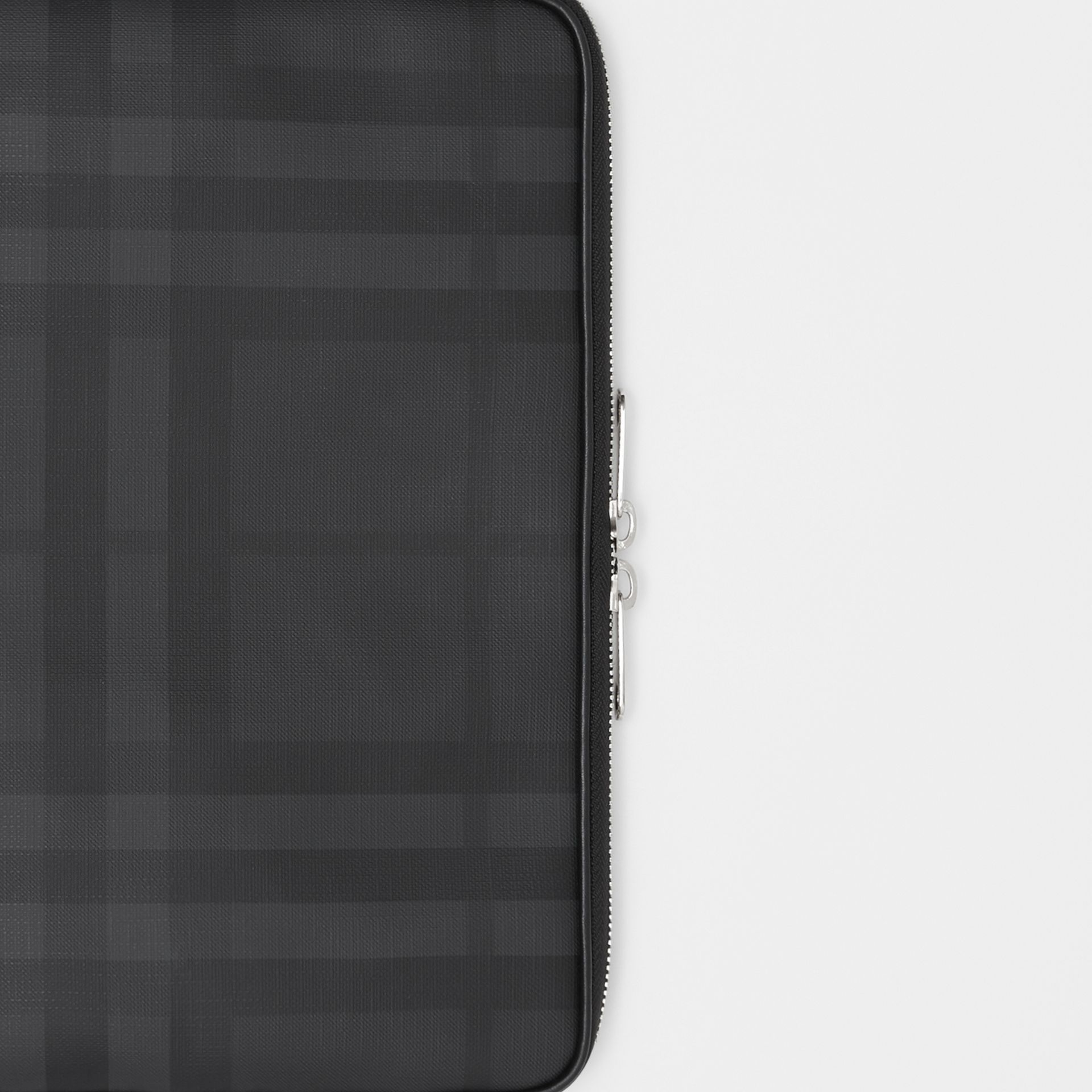 London Check Digital Case in Dark Charcoal - Men | Burberry Canada - gallery image 1