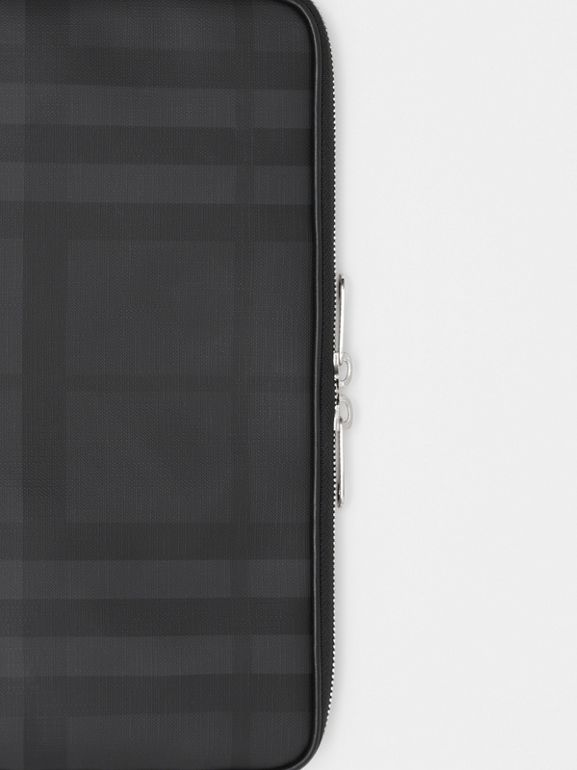 London Check Digital Case in Dark Charcoal - Men | Burberry - cell image 1