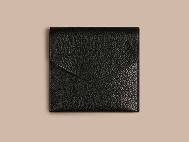 Grainy Leather Cufflink Case in Black - Men | Burberry - cell image 1