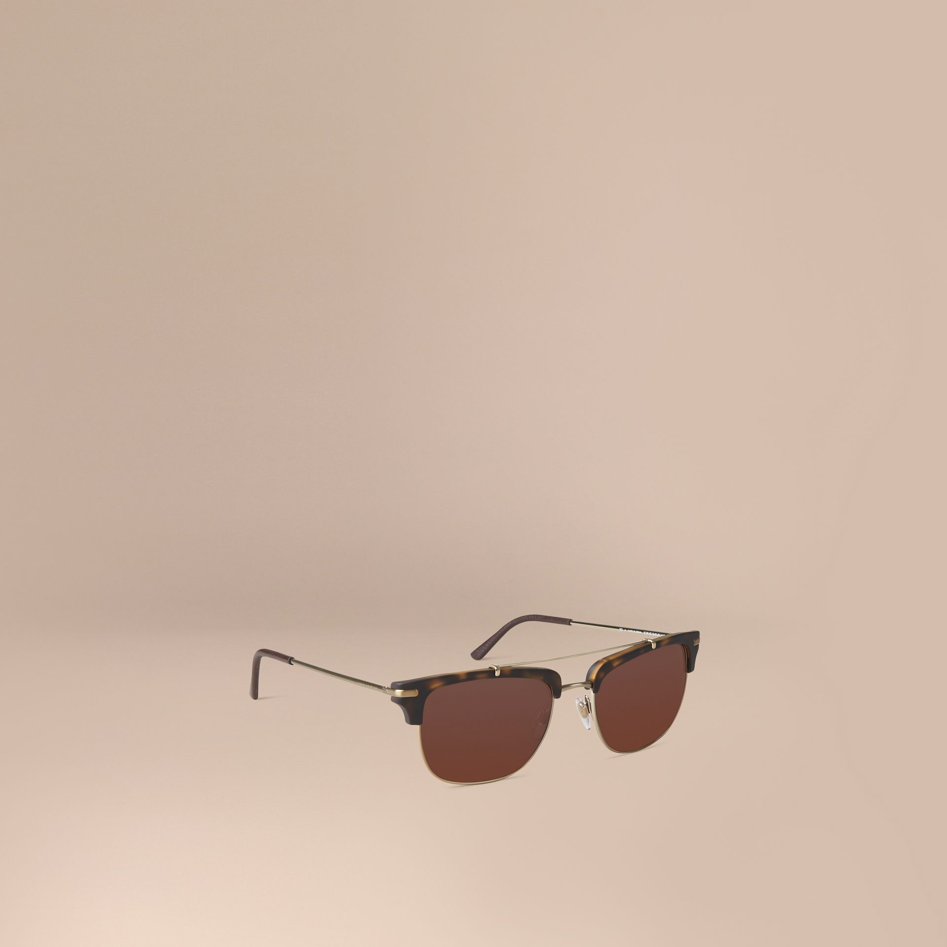 Square Frame Sunglasses Brown - gallery image 1