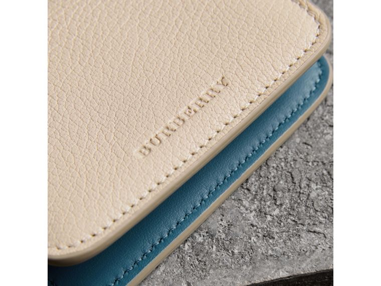 Link Detail Leather ID Card Case Charm in Stone | Burberry - cell image 1