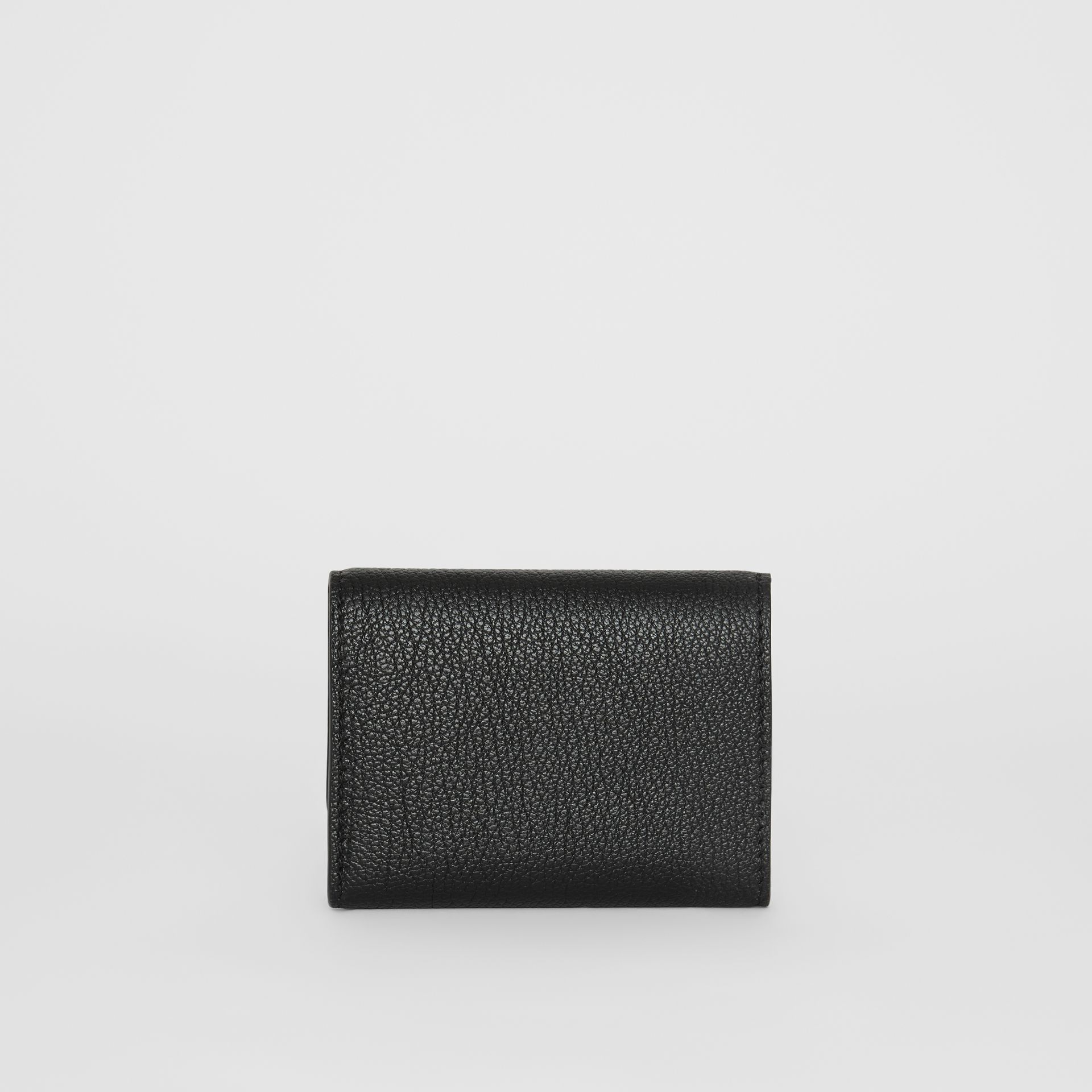 Small D-ring Leather Wallet in Black - Women | Burberry United Kingdom - gallery image 4