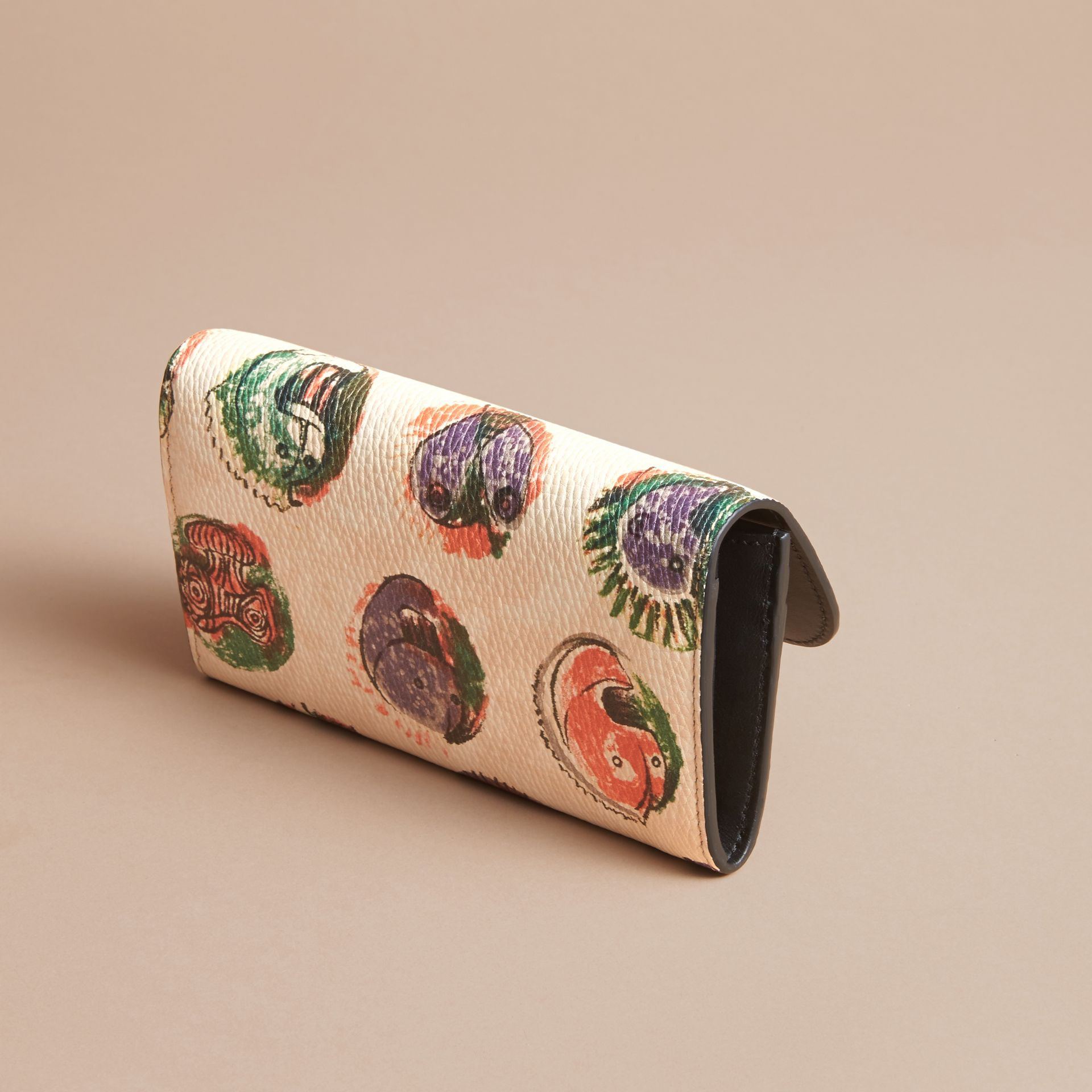 Pallas Heads Motif Leather Continental Wallet - gallery image 3